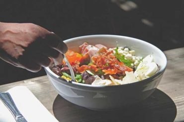 Close up shot of a salad