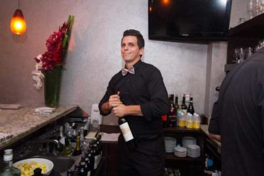 Fratelli Milano's bartender from behind the bar